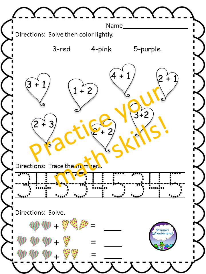 https://www.teacherspayteachers.com/Product/NO-PREP-Kindergarten-Valentine-Theme-Activities-1675772