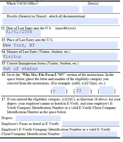 Dreamers Are Us: Completed Sample Form I-765