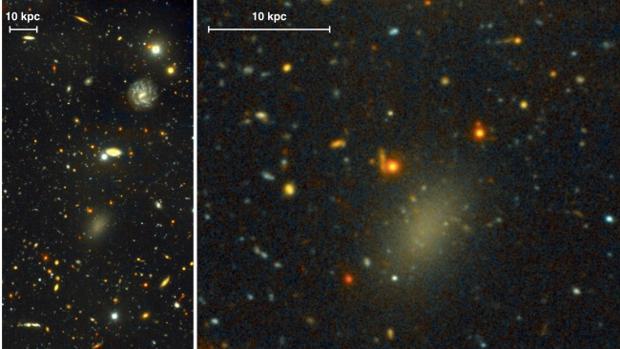 Descubren galaxia compuesta de materia oscura.