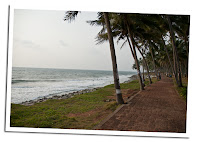 Black beach in Varkala