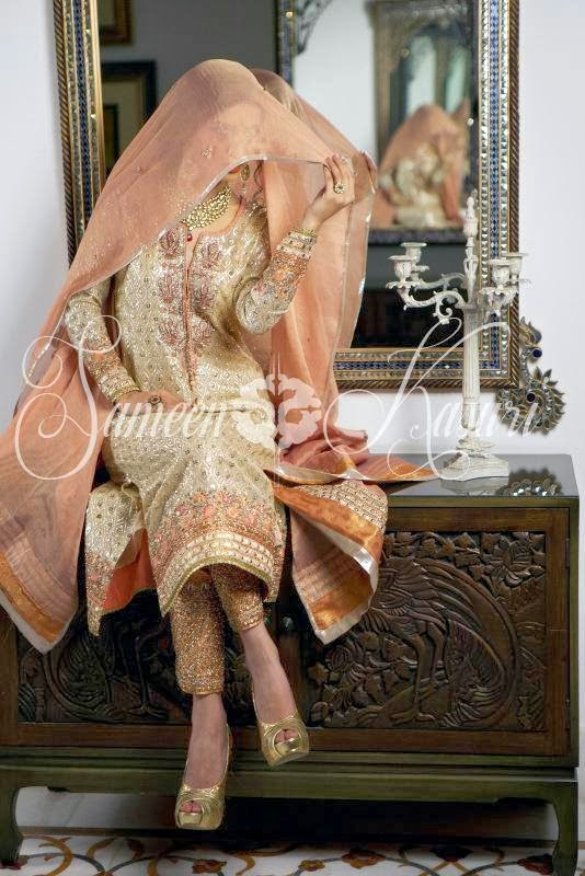 SameenKasuriSemiFormalCollection2014 15 wwwfashionhuntworldblogspotcom 003 - Formal & Semi Formal Wear Dresses By Smeen Kasuri