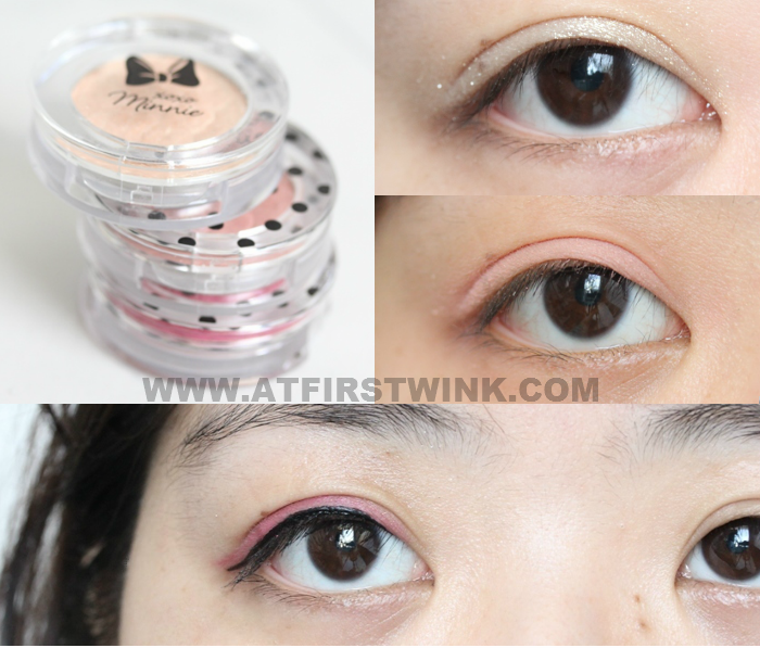 Etude House xoxo Minnie eyeshadow swatches