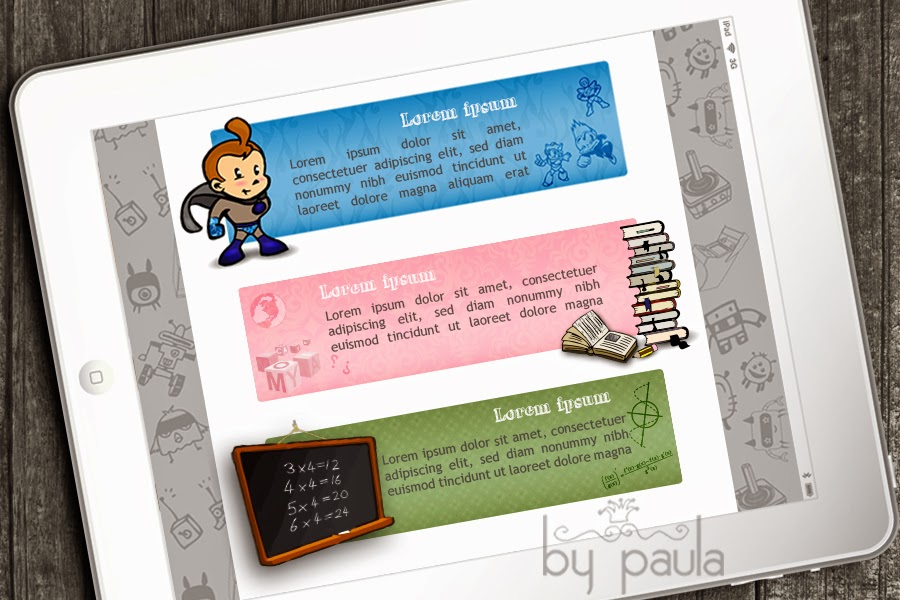banners categorías juegos pepito, by paula