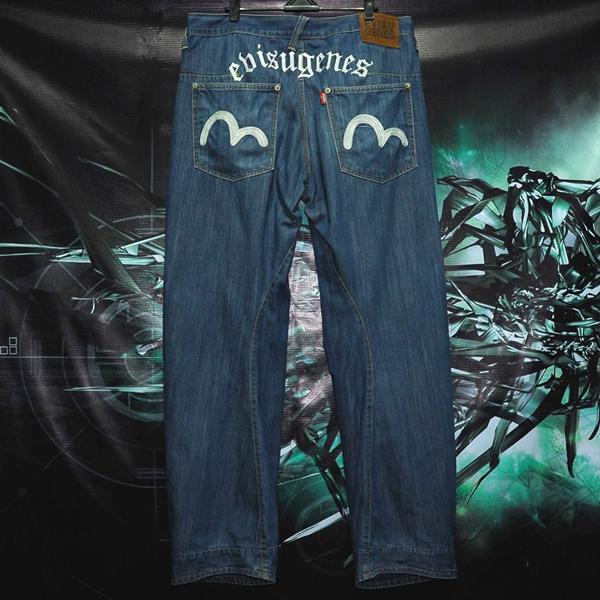Jeans Evisu Blue Track