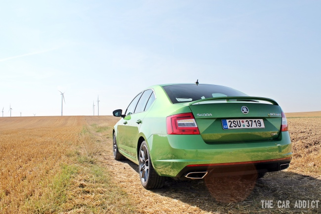 Skoda OctaviaRS in Green