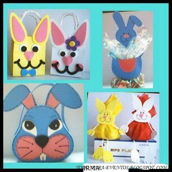 unas bolsas de papel o cajas de cartón pintadas