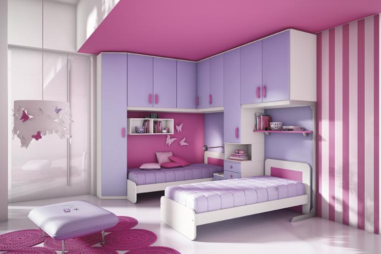 habitaciones con estilo dormitorios de ni a en rosa y lila