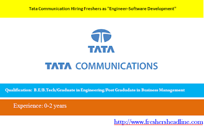 Tata Communication Hiring Freshers