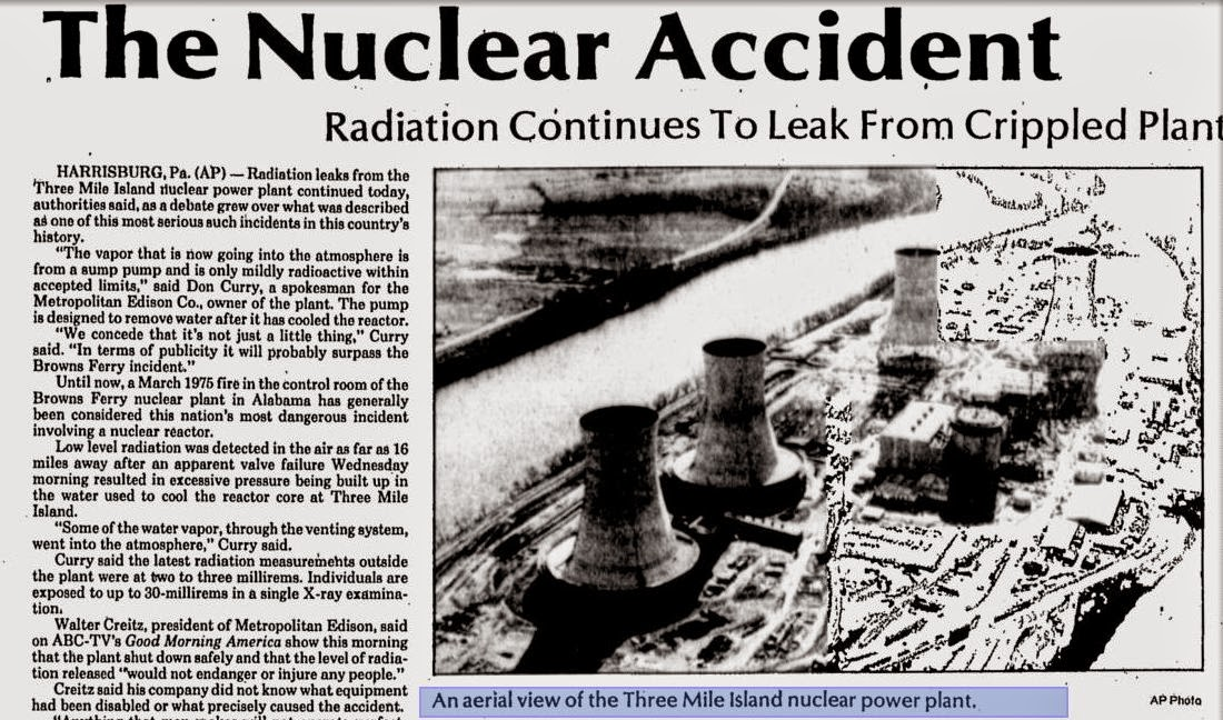 three mile island accidents Researchers say they have shown, for the first time, a possible link between  radiation from the 1979 accident at the three mile island nuclear.