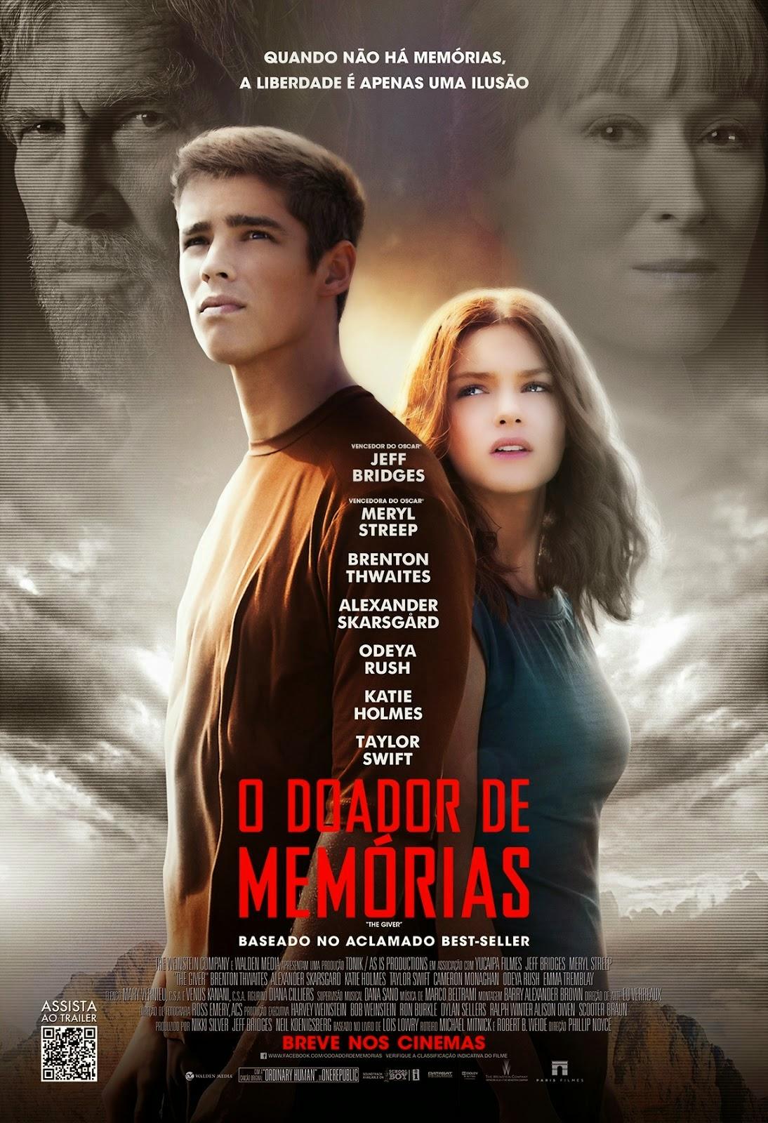 Pôster/capa/cartaz nacional de O DOADOR DE MEMÓRIAS (The Giver)