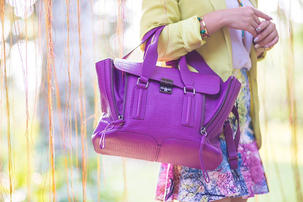 Crystal Phuong- Singapore Fashion Blog- 3.1 Phillip Lim Purple Pashli Handbag