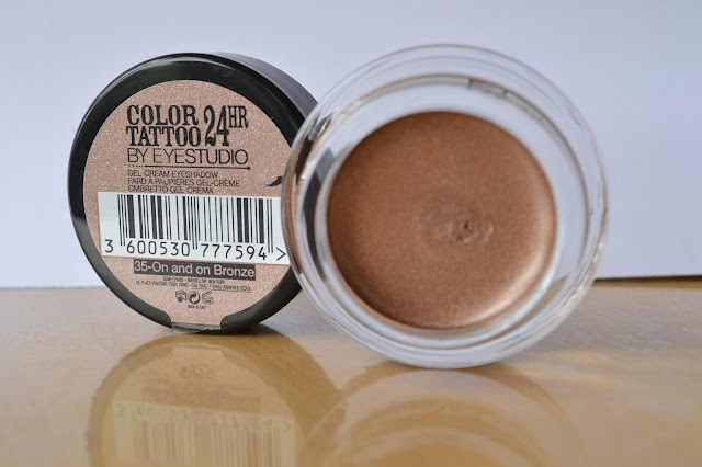 Maybelline EyeStudio Color Tattoo 24hr Cream Gel Eyeshadow in On and On Bronze - Beauty by Eff
