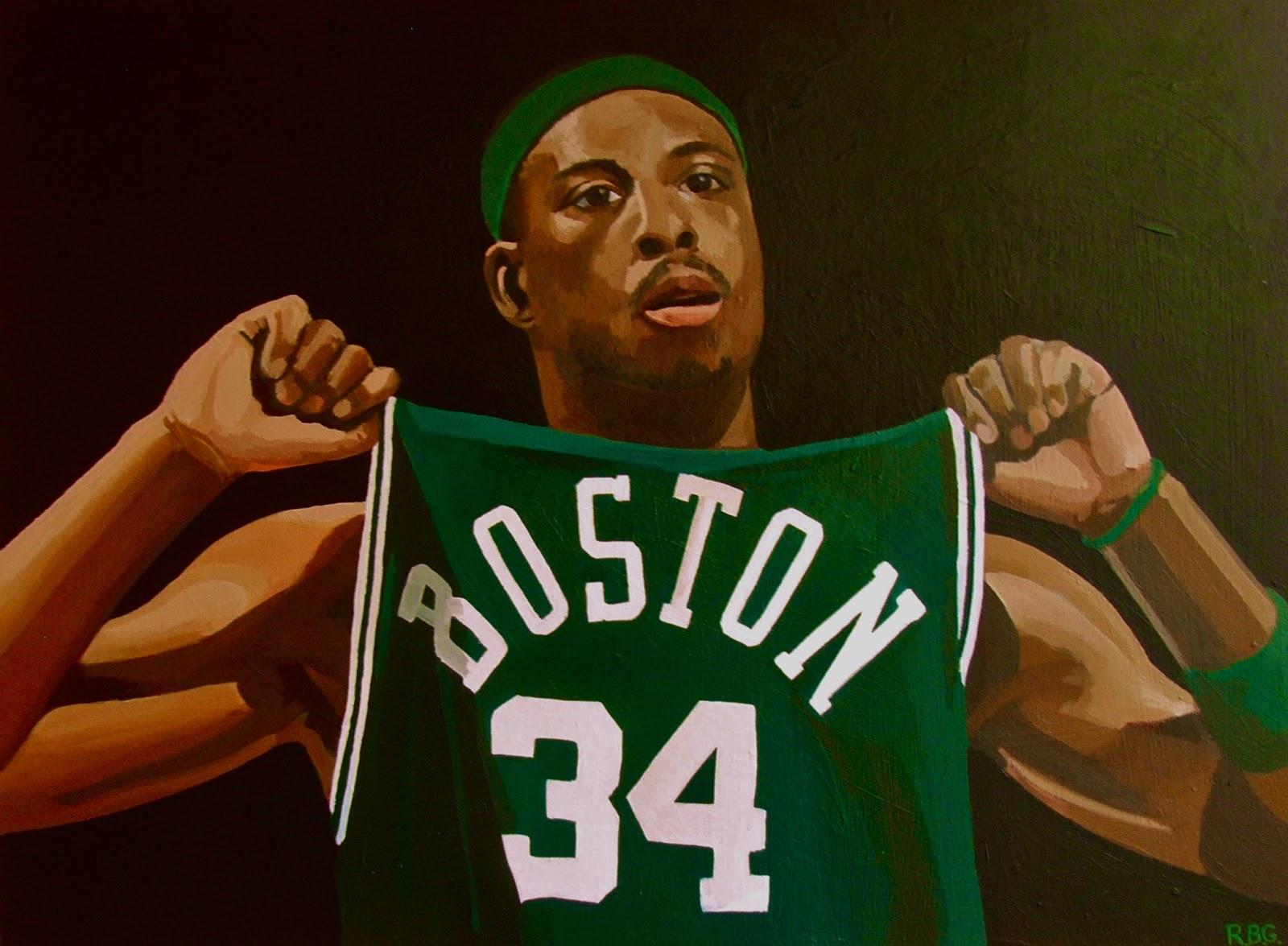 NBA Paintings Paul Pierce