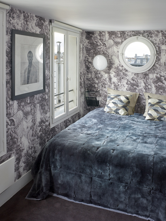 Mid-Century Design als Grundstock in einer modernen Einrichtung: Schlafzimmer
