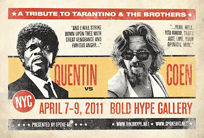 """Quentin vs. Coen: An Art Show Tribute to Tarantino and the Brothers"" presented by Spoke Art"
