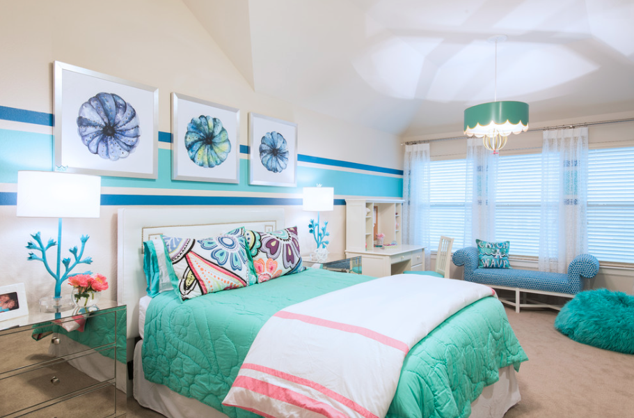 Classic with a twist client project award winning tween bedroom and suite to grow with - Bedroom suites for teenage girls ...