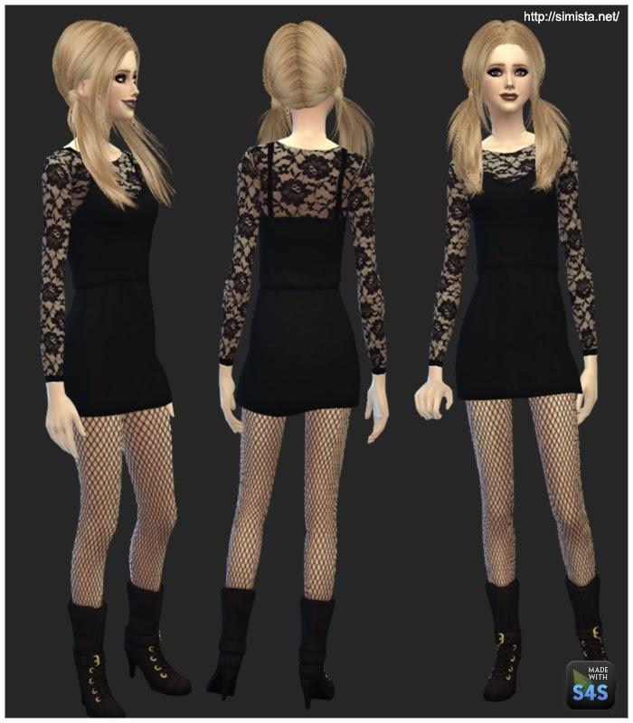 My Sims 4 Blog: Little Black Cocktail Dress for Teen - Elder ...