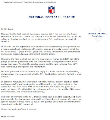 Click to view this Sept. 8, 2011 NFL email full-sized