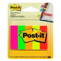 neon post it page markers