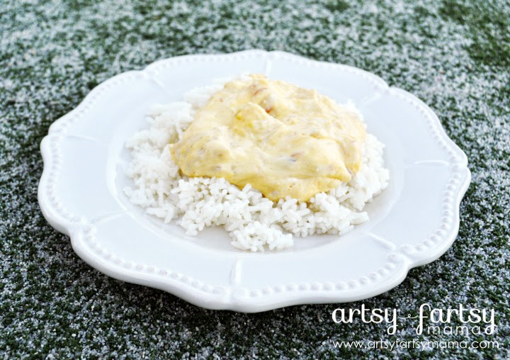 Philly Cream Cheese Chicken Over Rice #shop #SaveOnPhilly #cbias