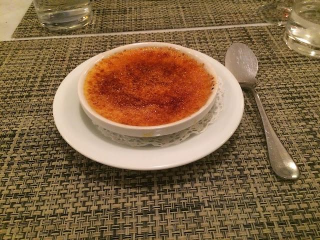 Crème brûlée at Le P'tit Troquet, Paris