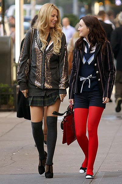 school style -Shot from the TV series _Gossip Girl