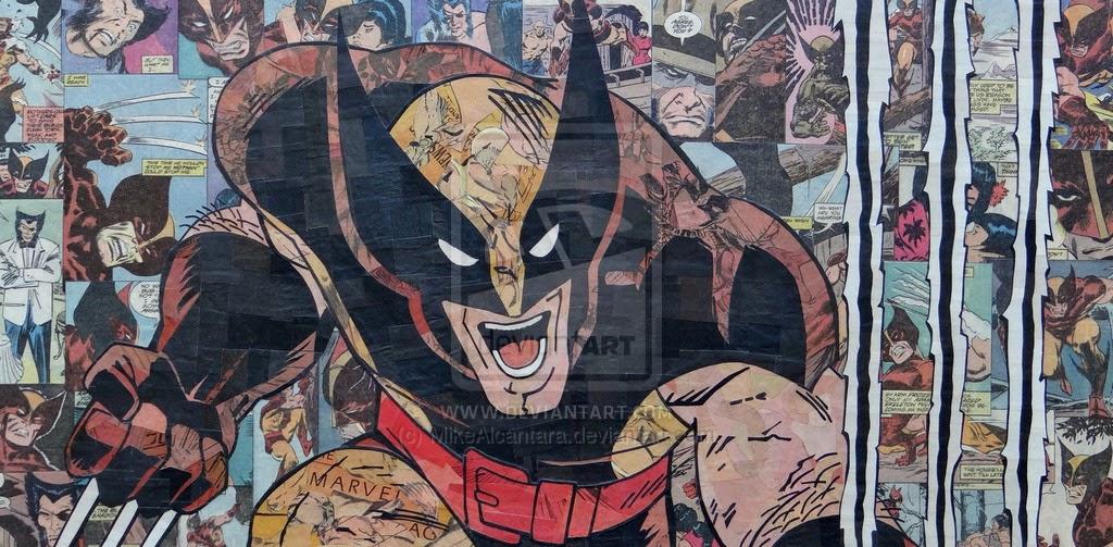 20-Wolverine-Mike-Alcantara-Comic-Collage-Art-www-designstack-co