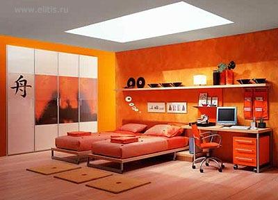 Orange fruit interior designs bedroom interior car led lights - Orange bedroom interior design ...