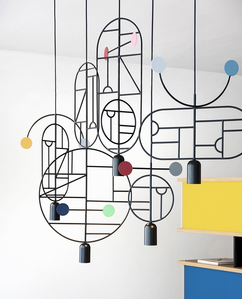 Lamp suspension as an abstract