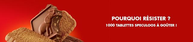 1000 tablettes spéculoos Côte d'Or à gagner