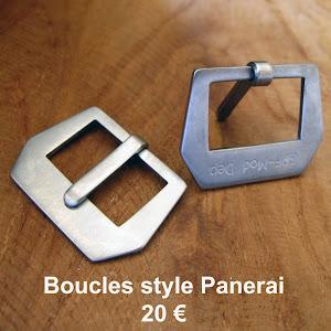 Boucles GPF-Mod Dep acier brossé (disponibles en 24 et en 26)