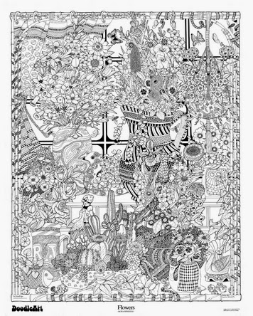 Vintage Doodle Art Posters - annesutu