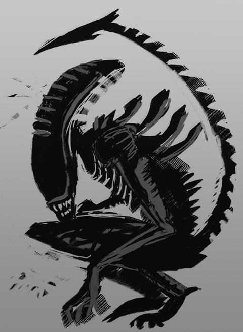 Alien speedpaint