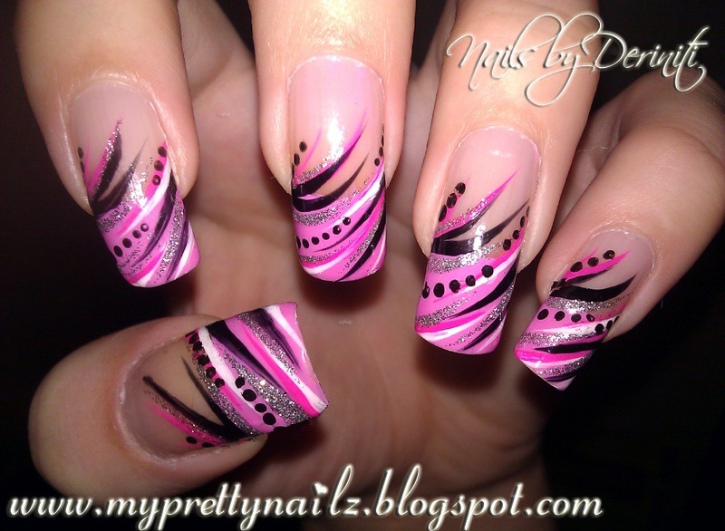 My Pretty Nailz: Diva Tips French Tip Nail Art Design Manicure and ...