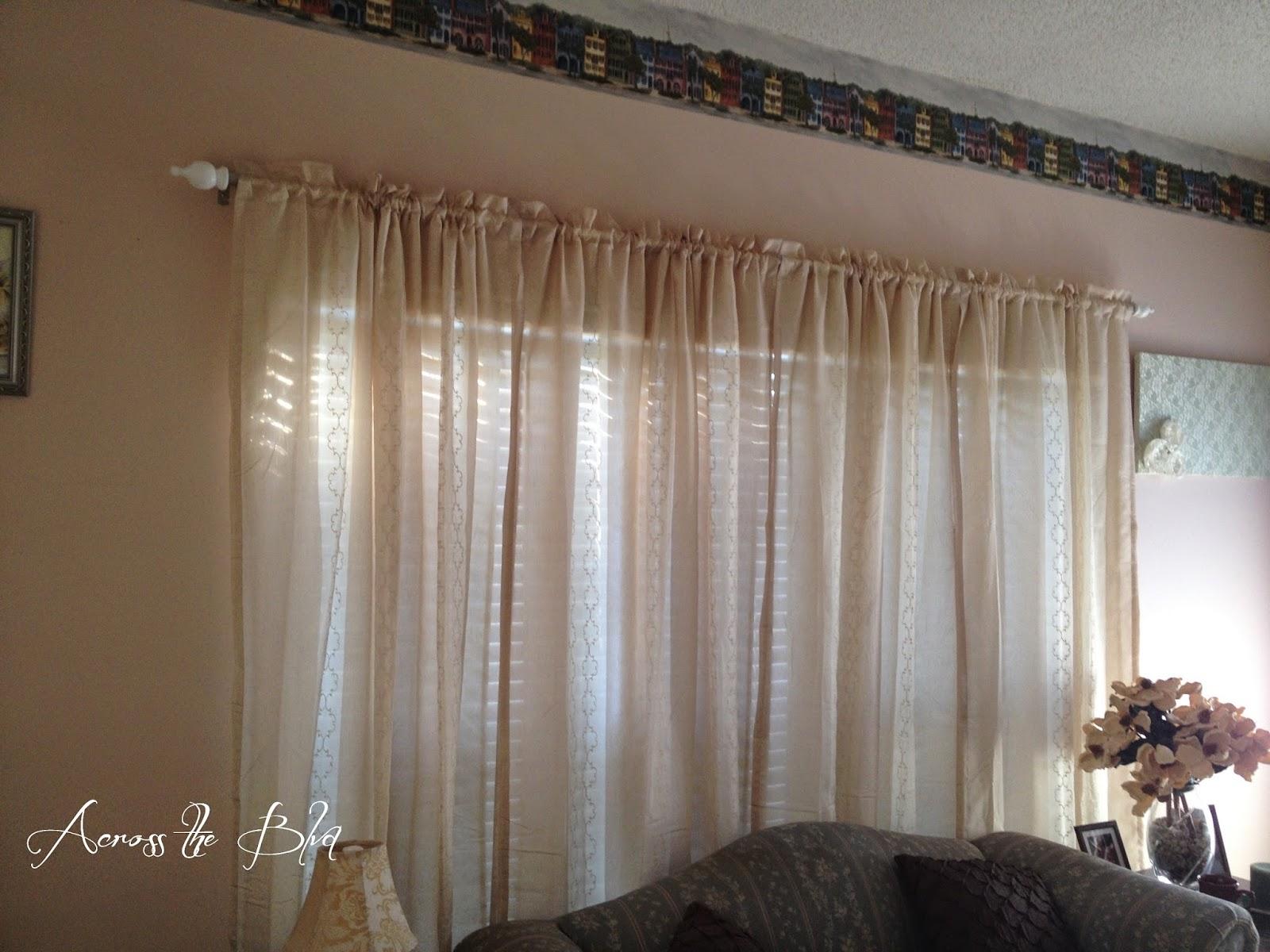across the boulevard diy curtain rods for large windows. Black Bedroom Furniture Sets. Home Design Ideas
