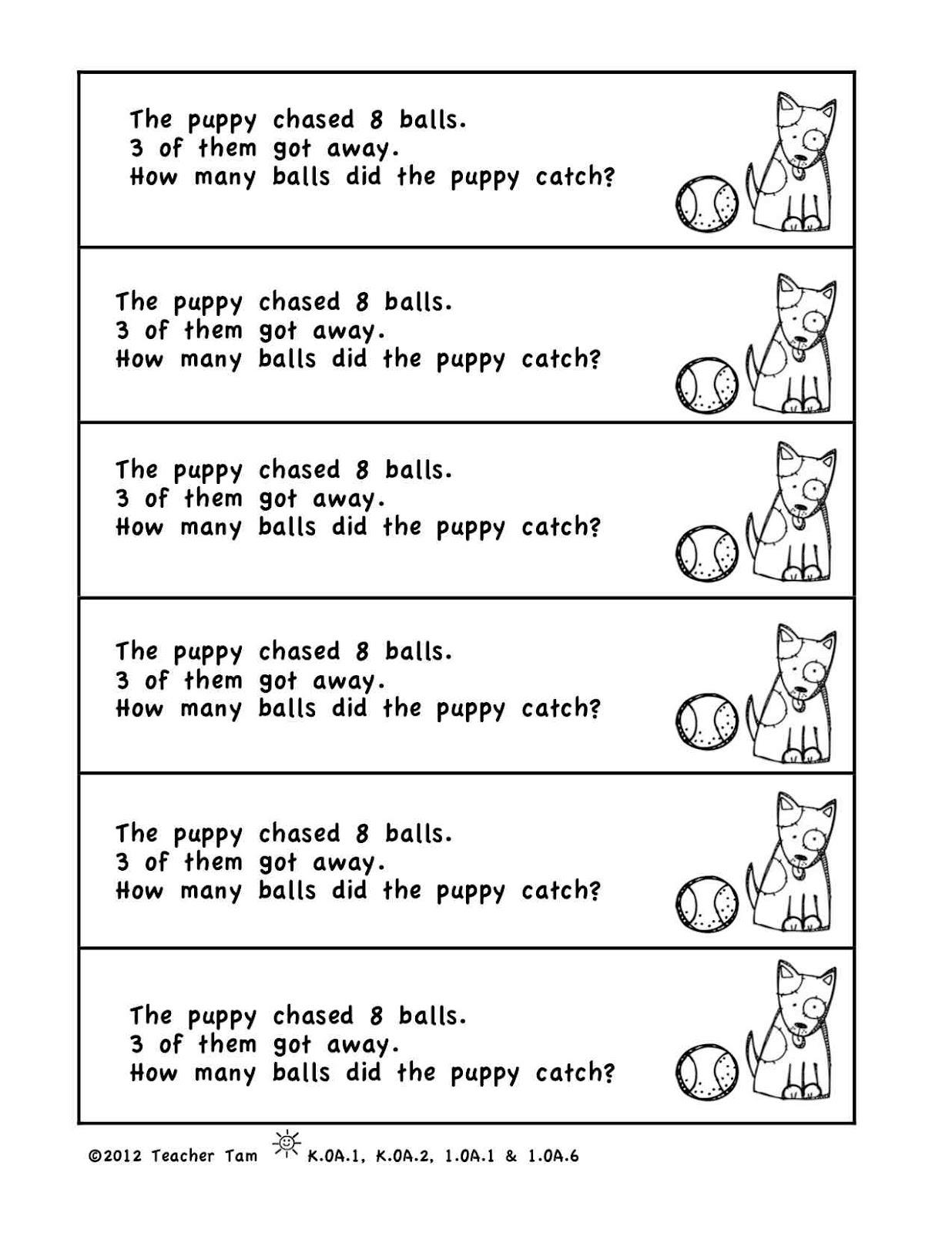 Kindergarten math problem solving journal
