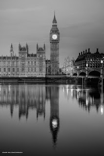 Big Ben and the Houses of Parliament on the Thames river.