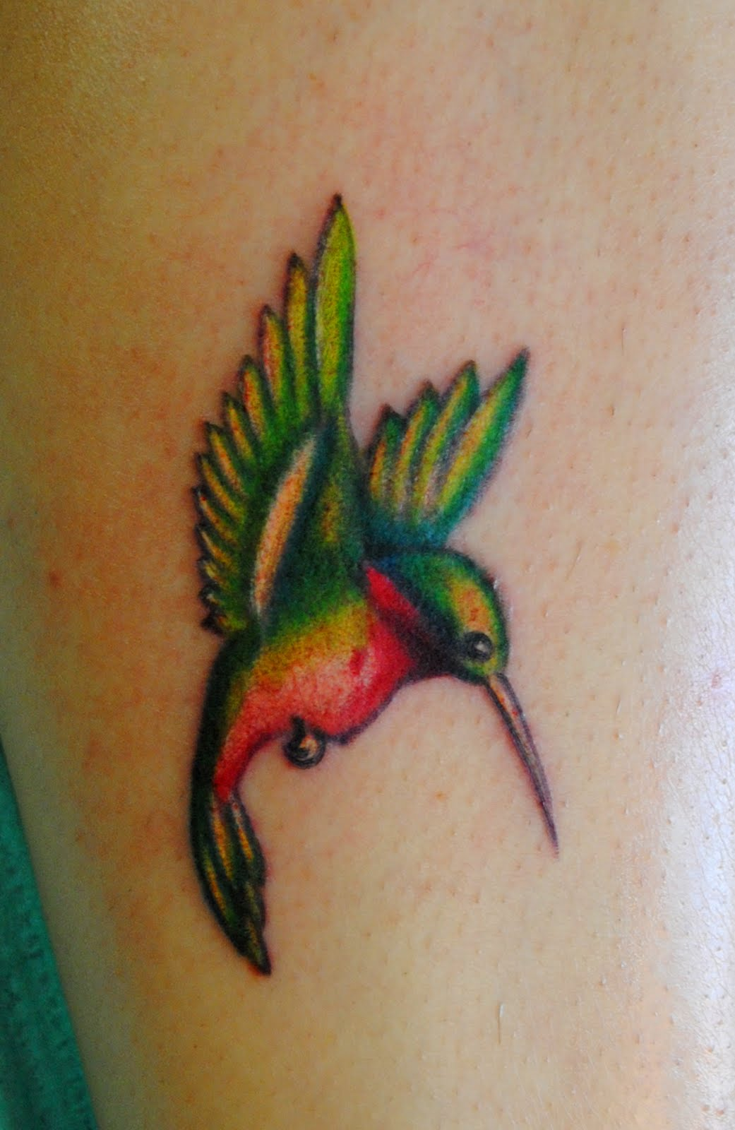 This Little Hummingbird Was Done On My Friends Sister