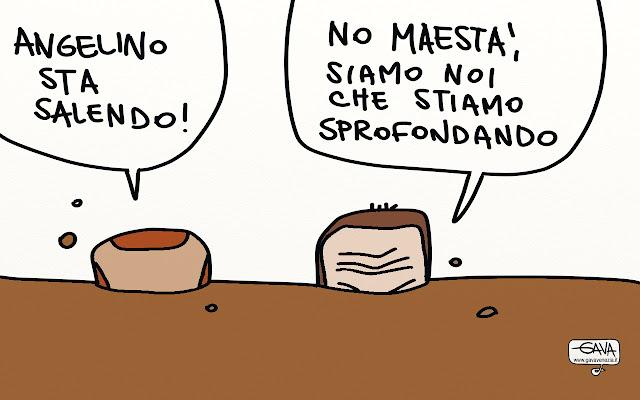 crisi merda Gava satira vignette