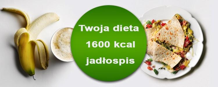 dieta 1600 kcal jadłospis