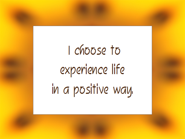 POSITIVE THINKING affirmation