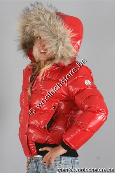 Moncler Alpin Down Jackets Red Women