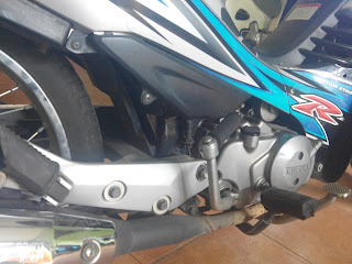 Letak Nomor Rangka dan Nomor Mesin Motor Suzuki Shogun 125