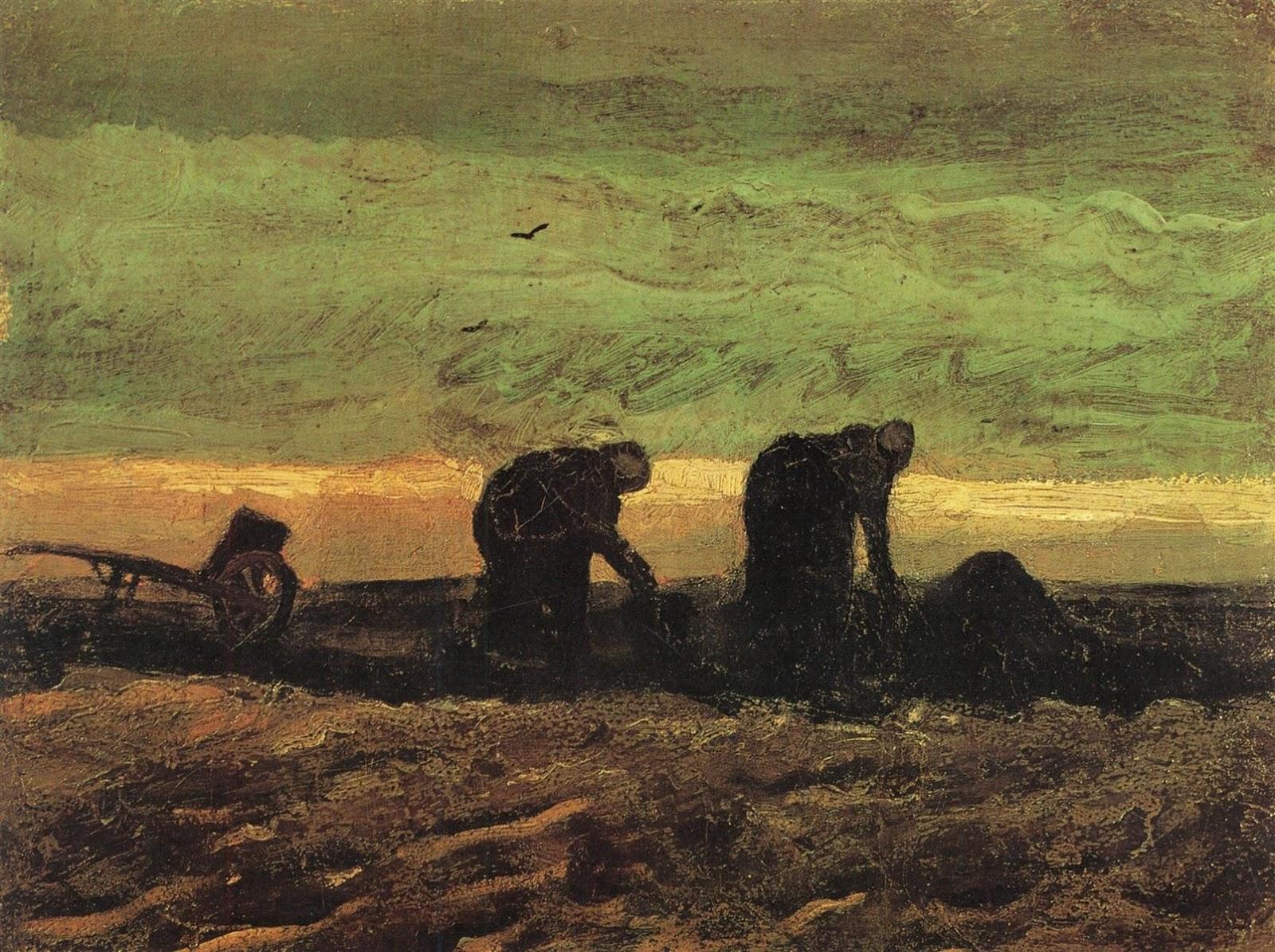 Two Women in the Moor by Vincent van Gogh