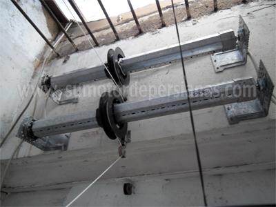 Trabajos de motores persianas for Sistema poleas para toldos