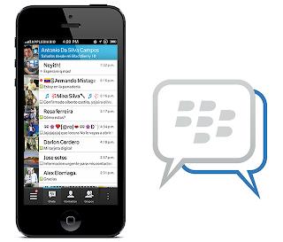 iPhone 5 con Blackberry Messenger