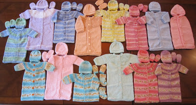 FREE KNIT PREEMIE AND NEWBORN PATTERNS: BUNTING, SLEEP SACK / SLEEPING