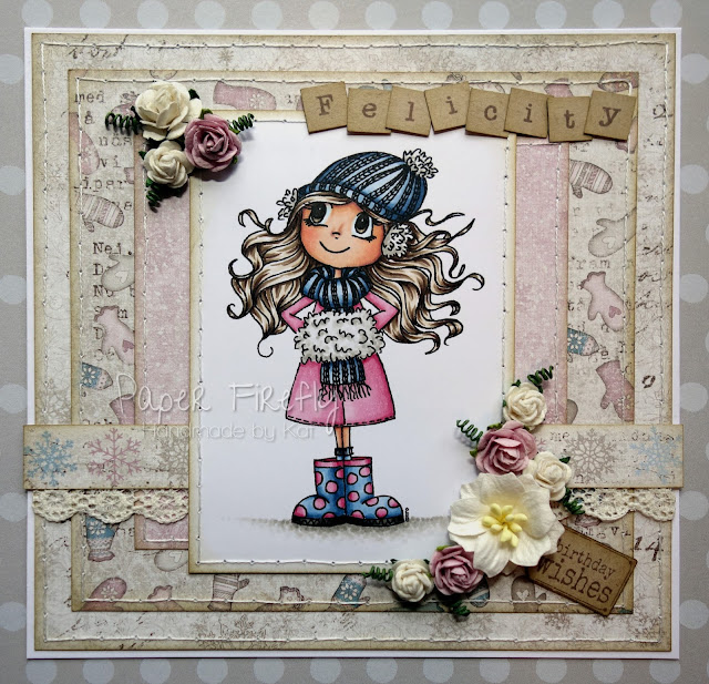 Cosy winter birthday card featuring Winter Warmth by Time for Tea Designs