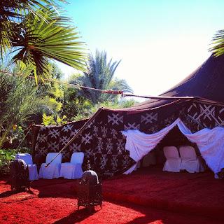 Tente berbère pour séminaire à l'hôtel Les Deux Tours à Marrakech