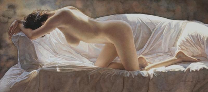 DWC Woman in Bed -  Artist Steve Hanks